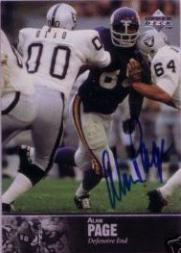 1997 Upper Deck Legends Autographs #AL58 Alan Page