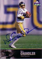 1997 Upper Deck Legends Autographs #AL87 Wes Chandler