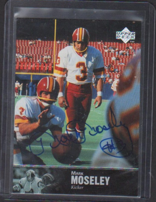 1997 Upper Deck Legends Autographs #AL147 Mark Moseley