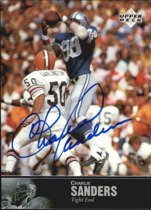 1997 Upper Deck Legends Autographs #AL164 Charlie Sanders