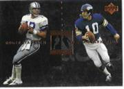 1997 Upper Deck Legends Marquee Matchups #MM4 Roger Staubach/Fran Tarkenton