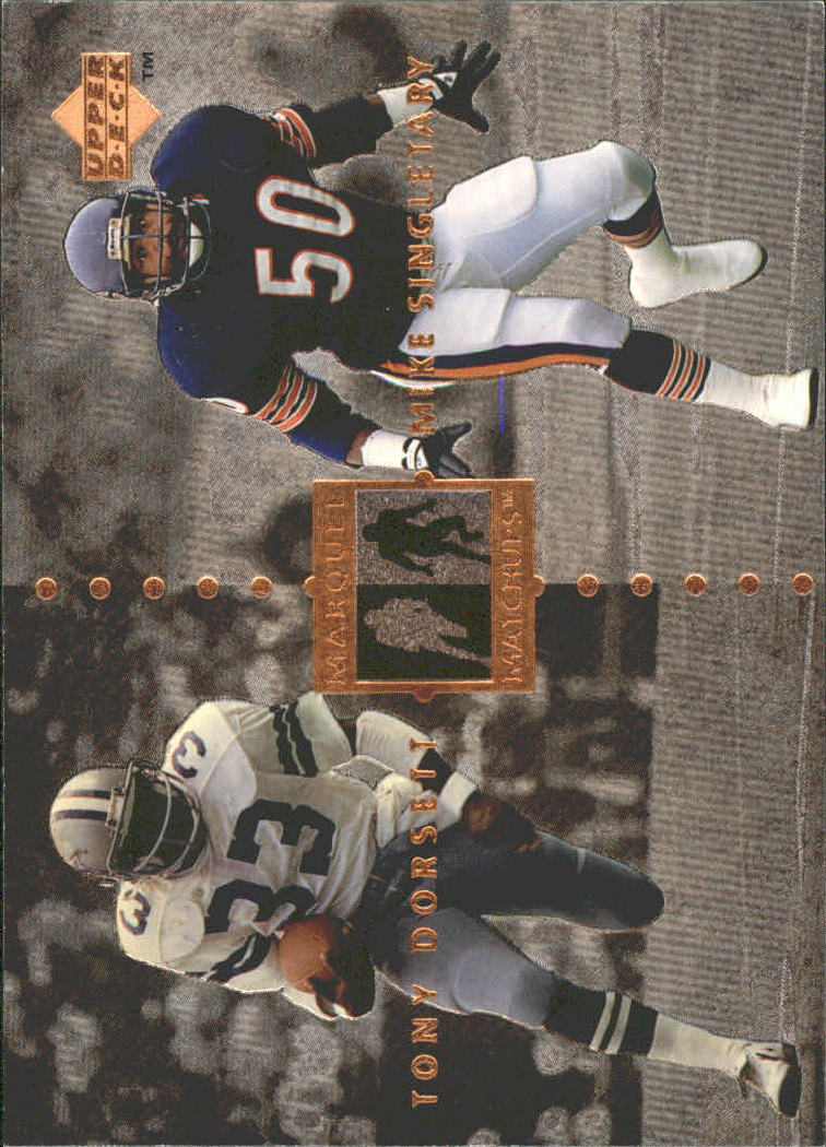 1997 Upper Deck Legends Marquee Matchups #MM19 Tony Dorsett/Mike Singletary