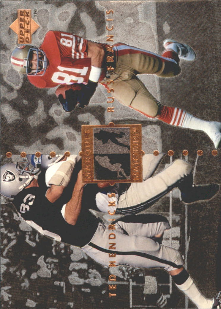 1997 Upper Deck Legends Marquee Matchups #MM27 Ted Hendricks/Russ Francis