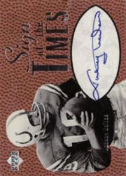 1997 Upper Deck Legends Sign of the Times #ST3 Johnny Unitas