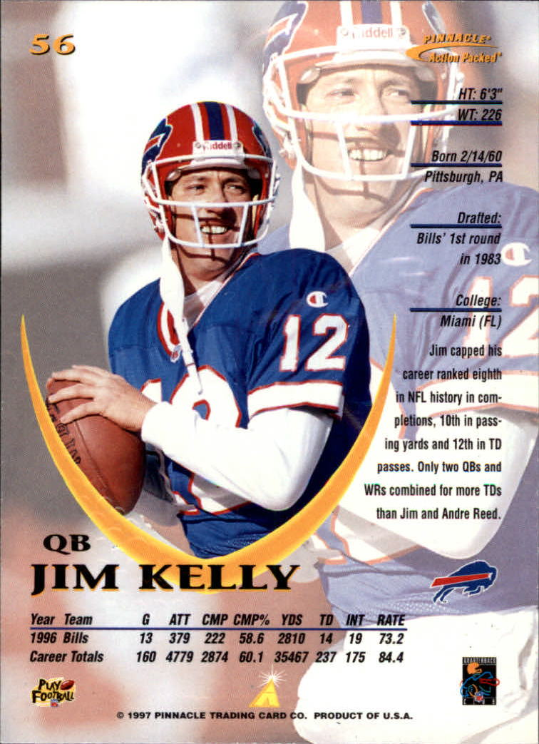1997 Action Packed #56 Jim Kelly back image