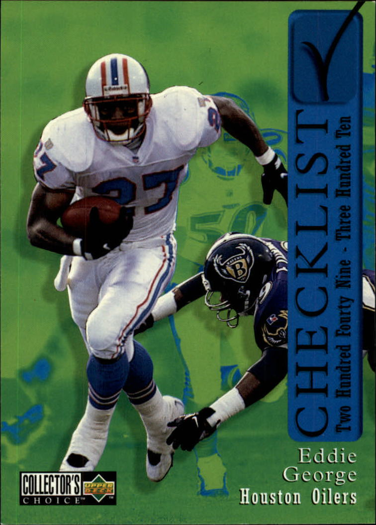 1997 Collector's Choice #306 Eddie George CL