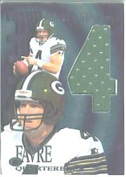 1997 Collector's Edge Extreme Game Gear Quads #11J Brett Favre JSY