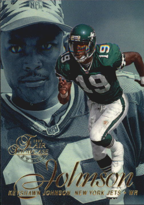 1997 Flair Showcase Row 2 #35 Keyshawn Johnson
