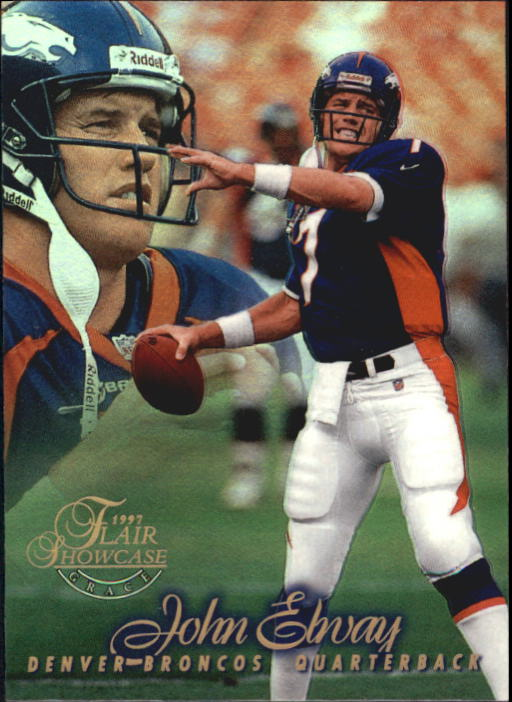 1997 Flair Showcase Row 1 #7 John Elway