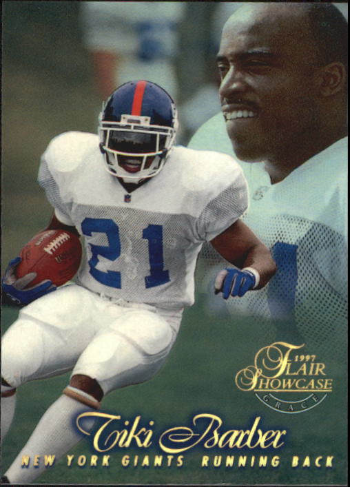1997 Flair Showcase Row 1 #46 Tiki Barber front image