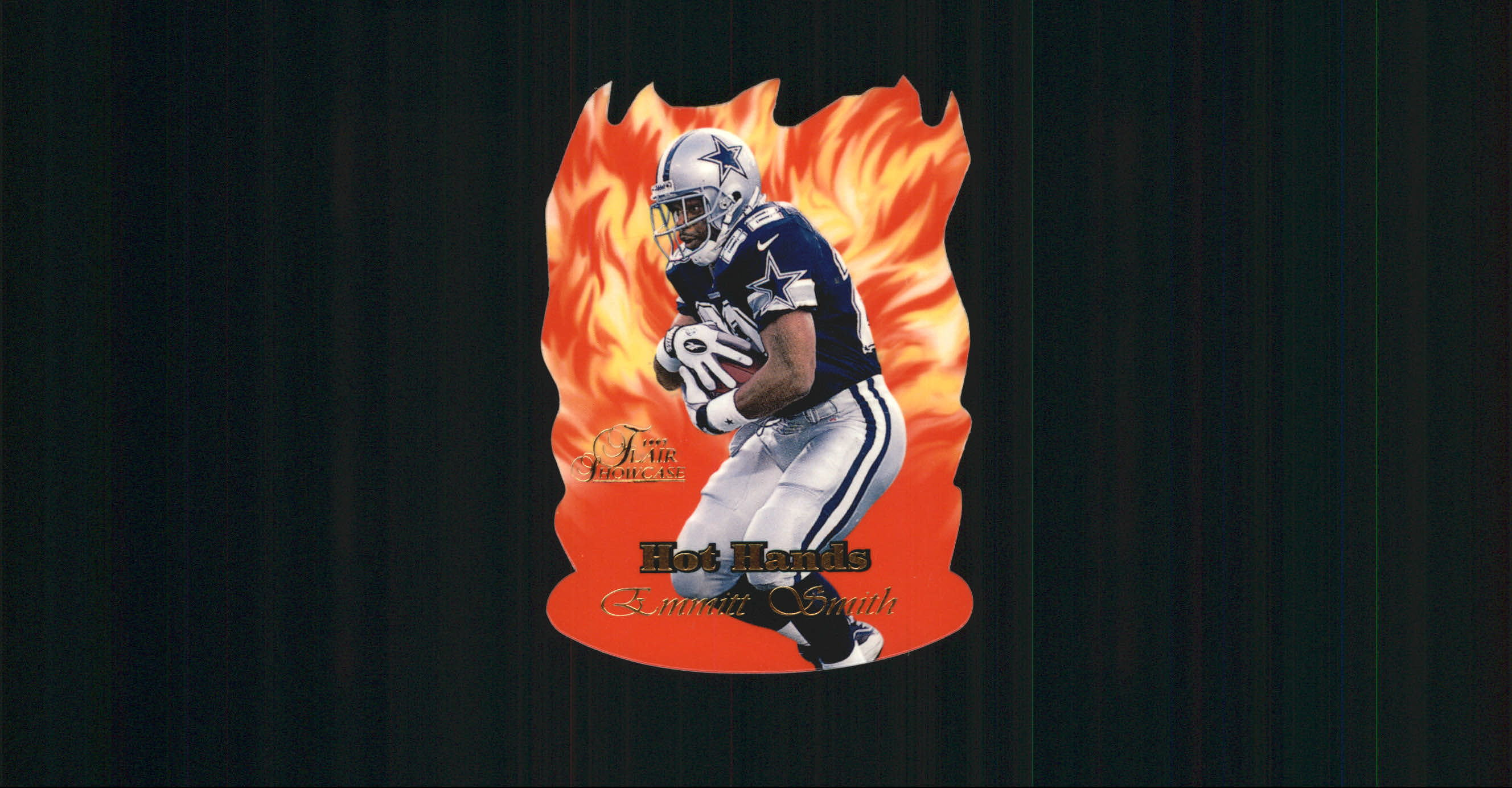 1997 Flair Showcase Hot Hands #HH2 Emmitt Smith front image