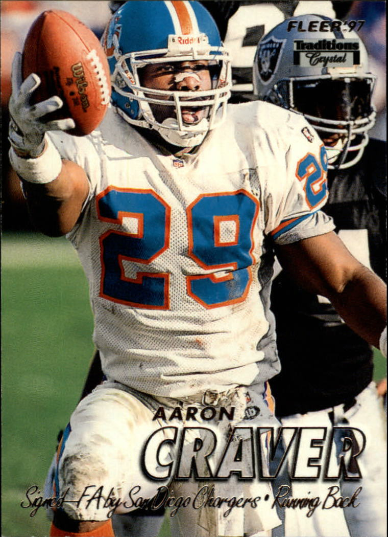 1997 Fleer Crystal Silver #347 Aaron Craver