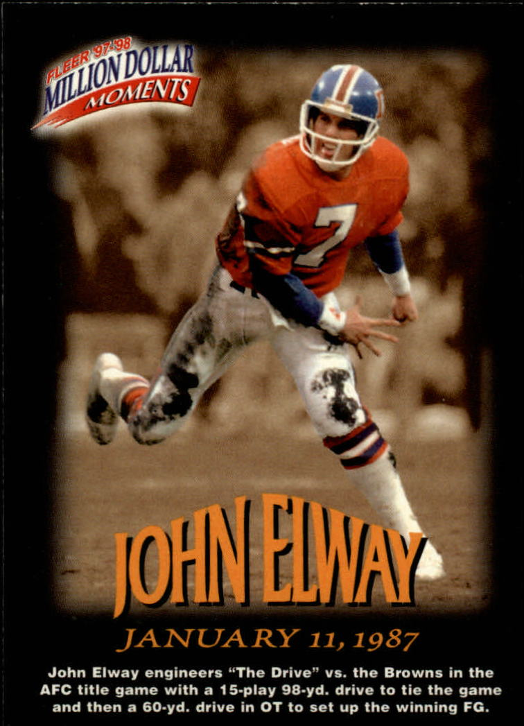 1997 Fleer Million Dollar Moments #8 John Elway
