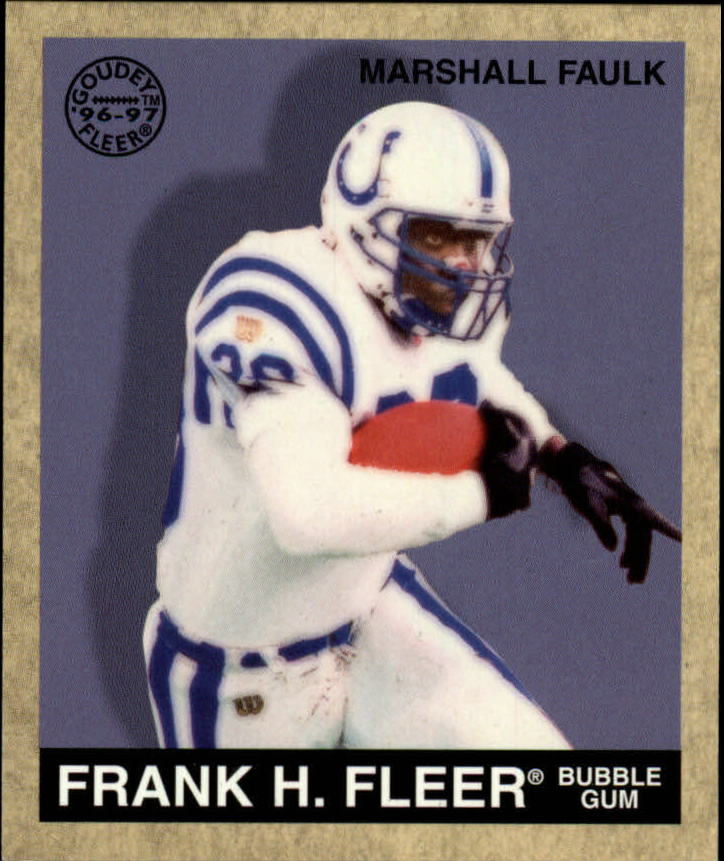 1997 Fleer Goudey #26 Marshall Faulk