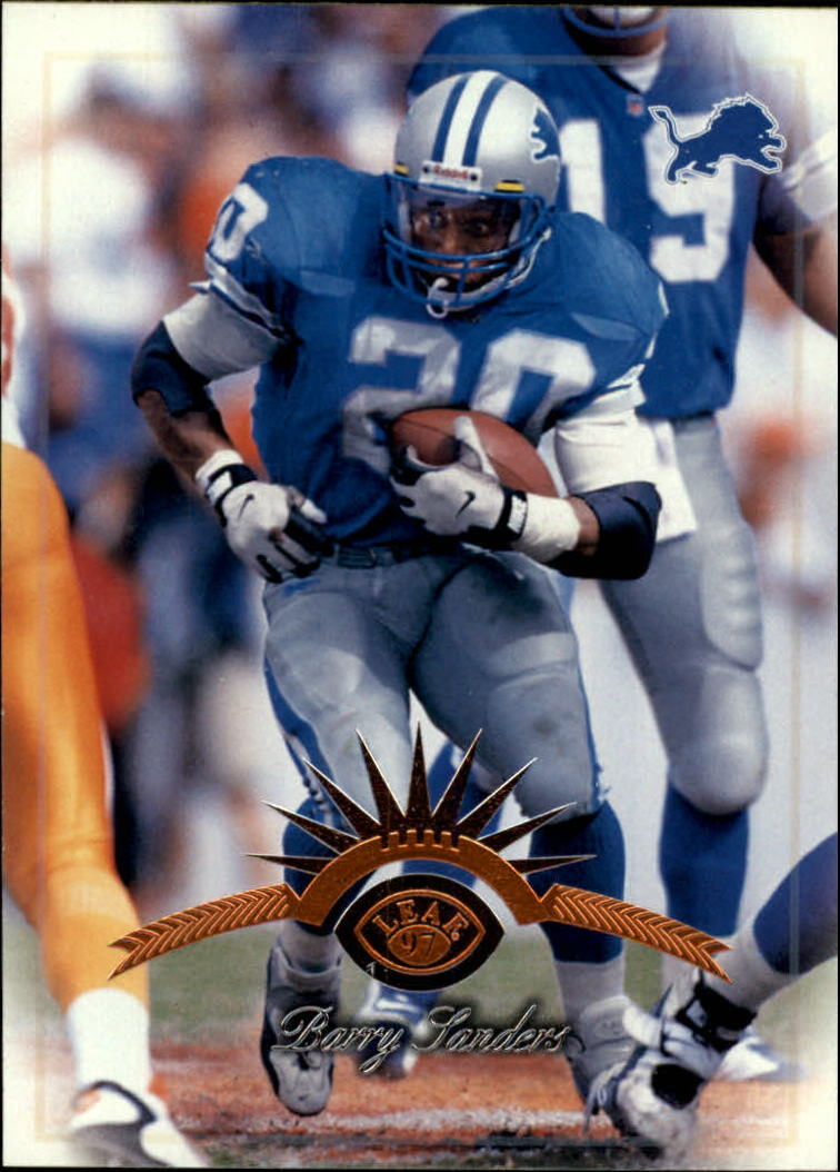 1997 Leaf #3 Barry Sanders front image
