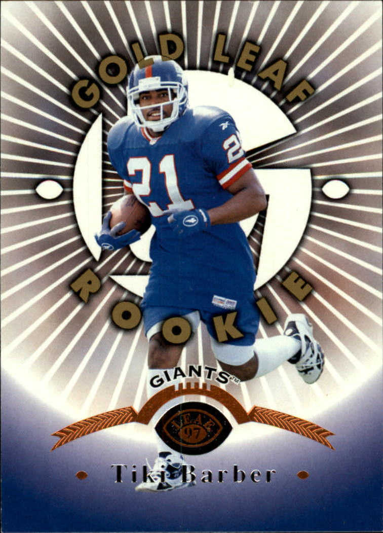 1997 Leaf #160 Tiki Barber RC