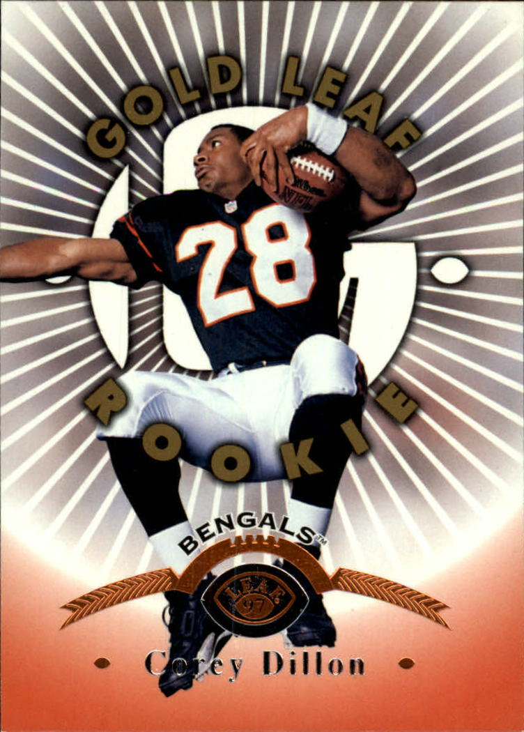 1997 Leaf #164 Corey Dillon RC