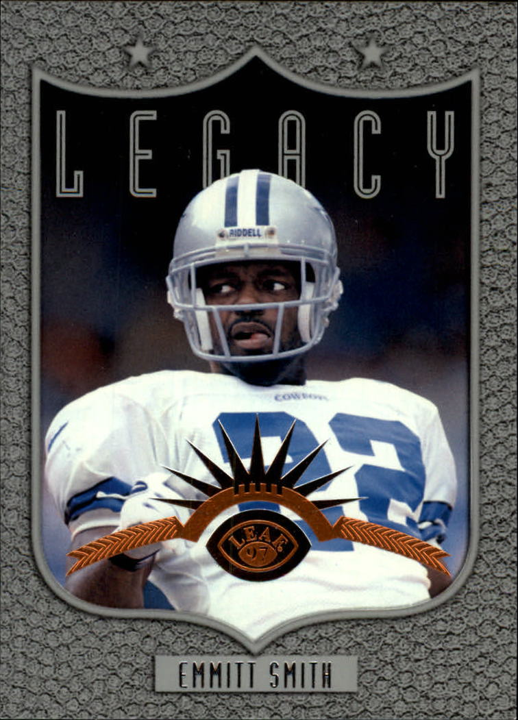 1997 Leaf #185 Emmitt Smith L front image