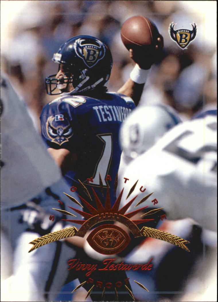 1997 Leaf Signature Proofs #40 Vinny Testaverde