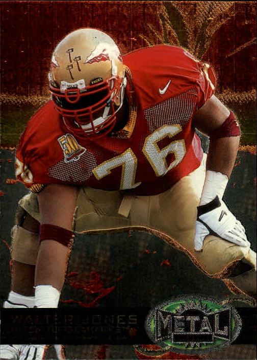 1997 Metal Universe #185 Walter Jones RC