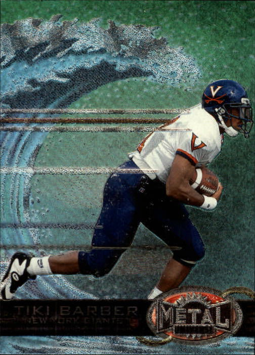 1997 Metal Universe #195 Tiki Barber RC