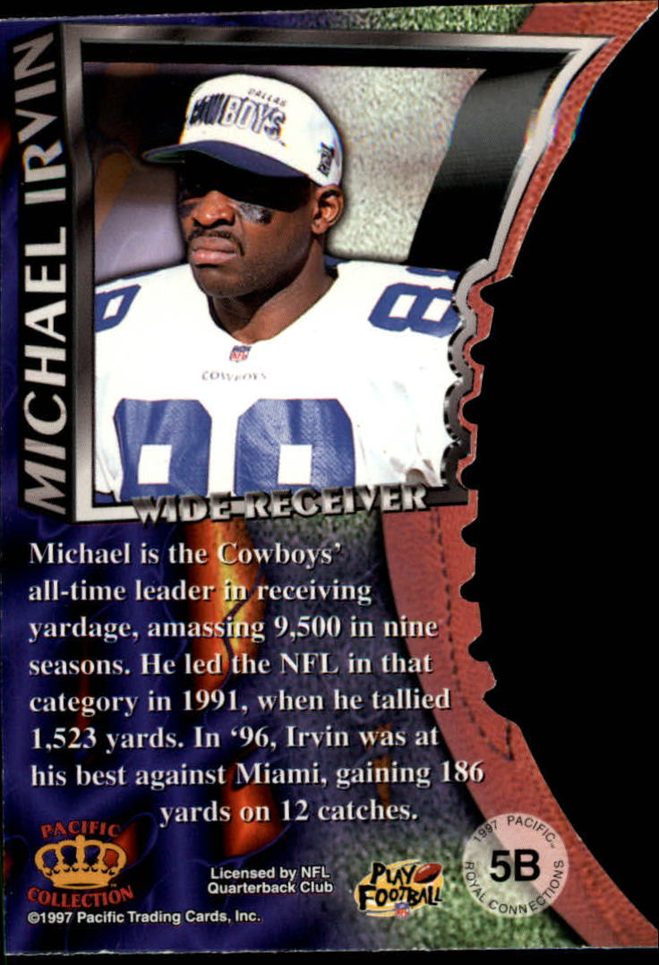 1997 Pacific Dynagon Royal Connections #5B Michael Irvin