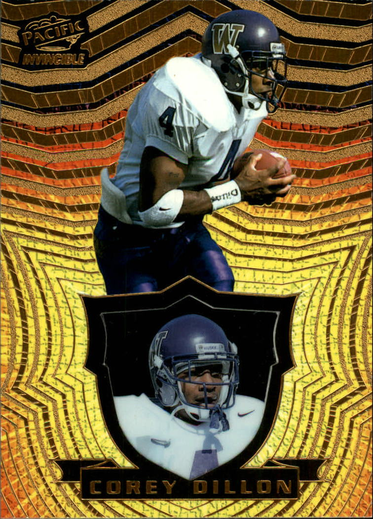 1997 Pacific Invincible #126 Corey Dillon RC