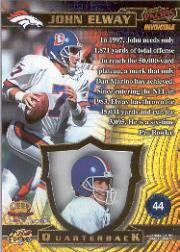 1997 Pacific Invincible Platinum Blue #44 John Elway back image