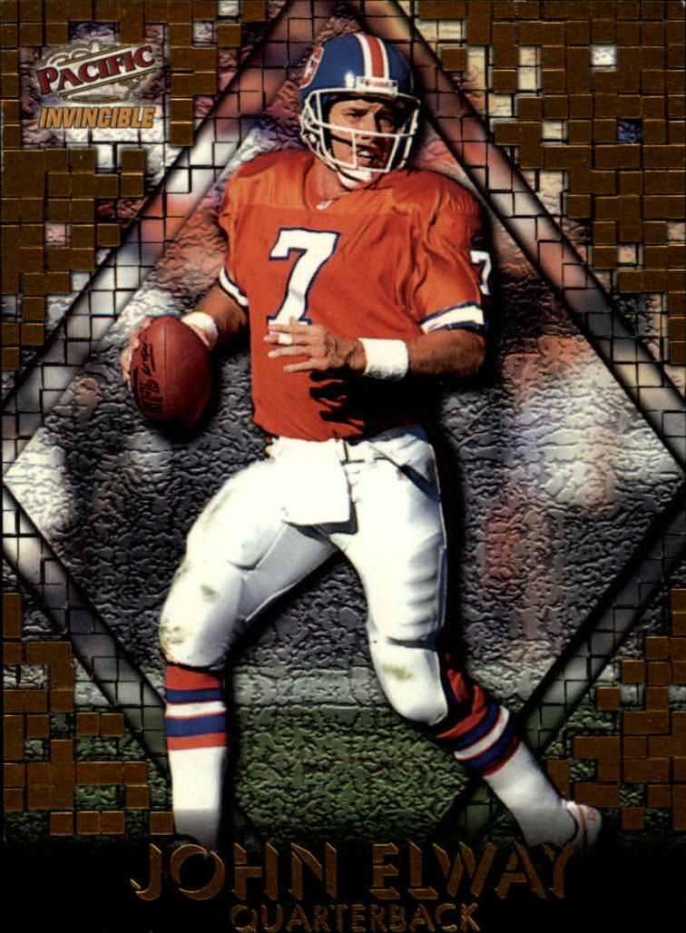 1997 Pacific Invincible Pop Cards #4 John Elway