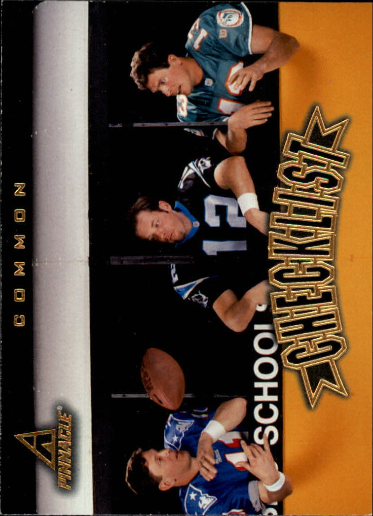 1997 Pinnacle #198 Bledsoe/KCollins/Marino CL