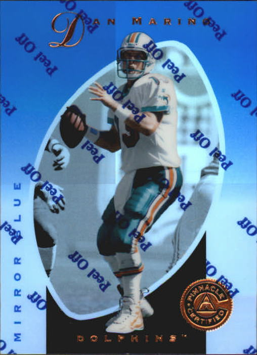 1997 Pinnacle Certified Mirror Blue #2 Dan Marino front image