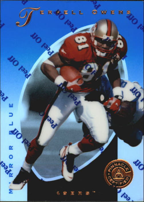 1997 Pinnacle Certified Mirror Blue #27 Terrell Owens