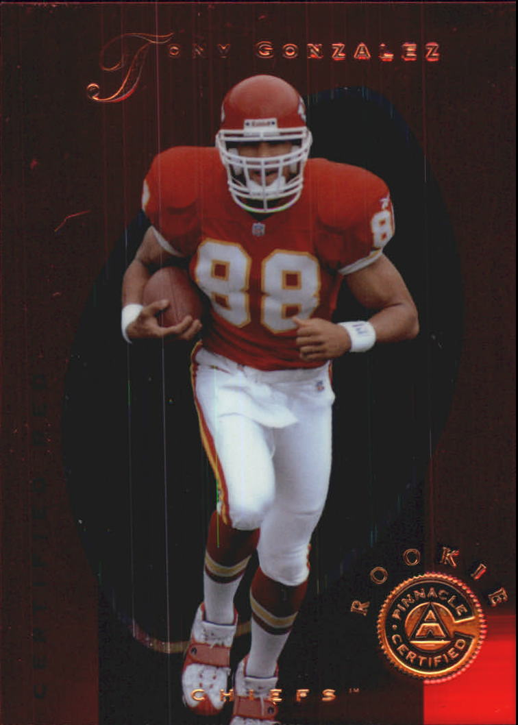 1997 Pinnacle Certified Red #149 Tony Gonzalez