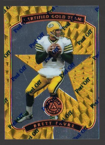 1997 Pinnacle Certified Certified Team Gold #1 Brett Favre front image