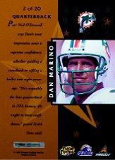1997 Pinnacle Certified Certified Team Gold #2 Dan Marino back image