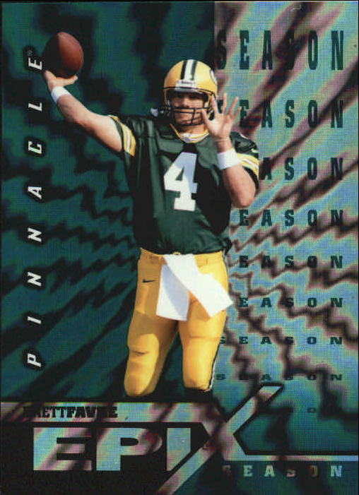 1997 Pinnacle Certified Epix Emerald #E10 B.Favre SEASON