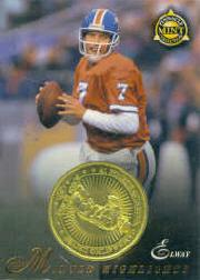 1997 Pinnacle Mint Coins Brass #30 John Elway MH