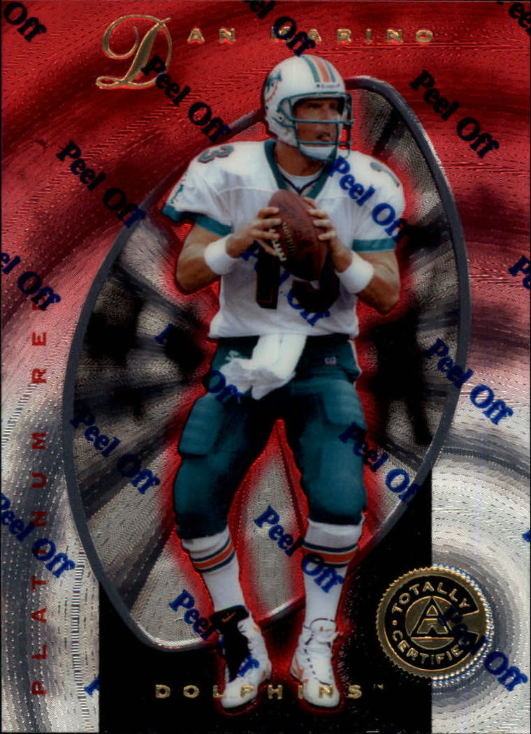 1997 Pinnacle Totally Certified Platinum Red #2 Dan Marino