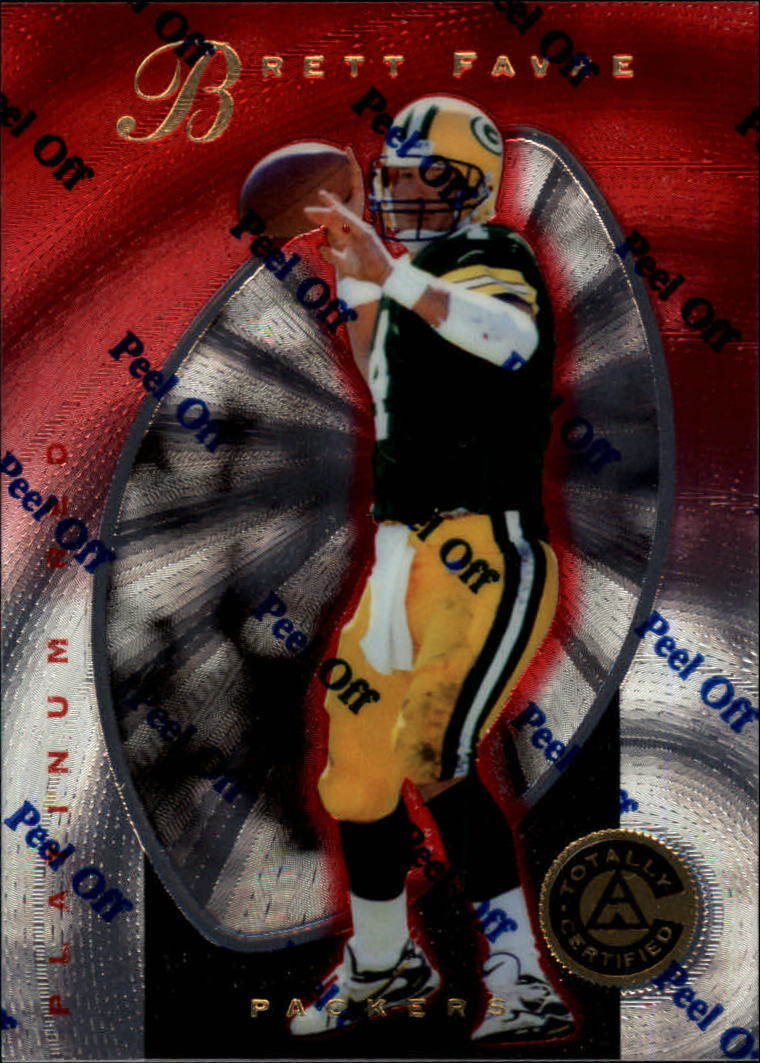 1997 Pinnacle Totally Certified Platinum Red #3 Brett Favre