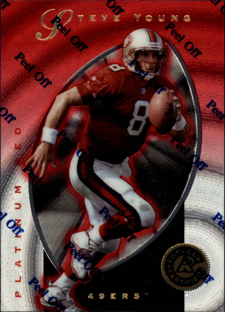 1997 Pinnacle Totally Certified Platinum Red #4 Steve Young