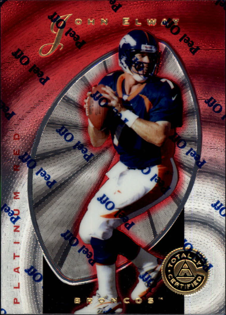 1997 Pinnacle Totally Certified Platinum Red #10 John Elway