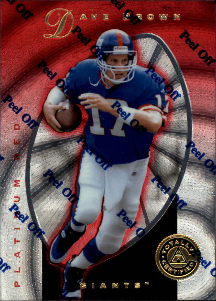 1997 Pinnacle Totally Certified Platinum Red #21 Dave Brown