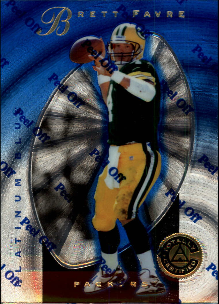 1997 Pinnacle Totally Certified Platinum Blue #3 Brett Favre