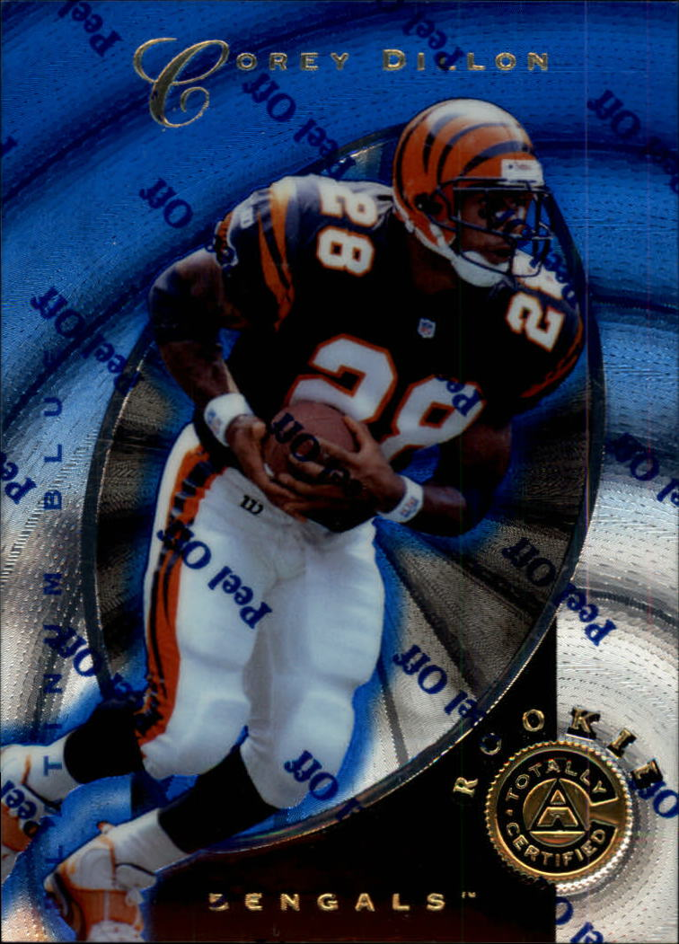 1997 Pinnacle Totally Certified Platinum Blue #144 Warrick Dunn