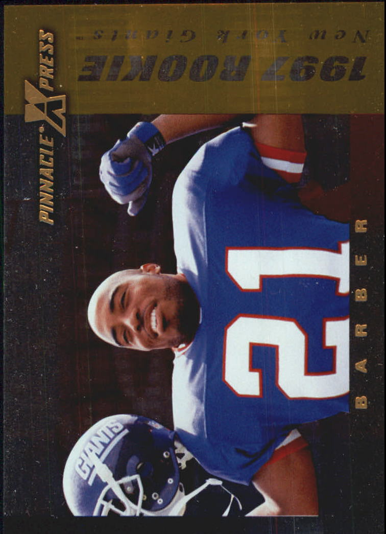 1997 Pinnacle X-Press Autumn Warriors #123 Tiki Barber front image
