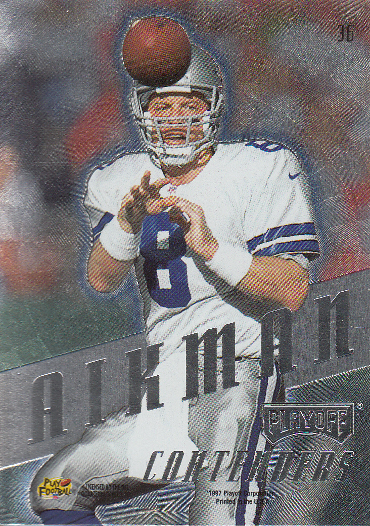 1997 Playoff Contenders #36 Troy Aikman back image