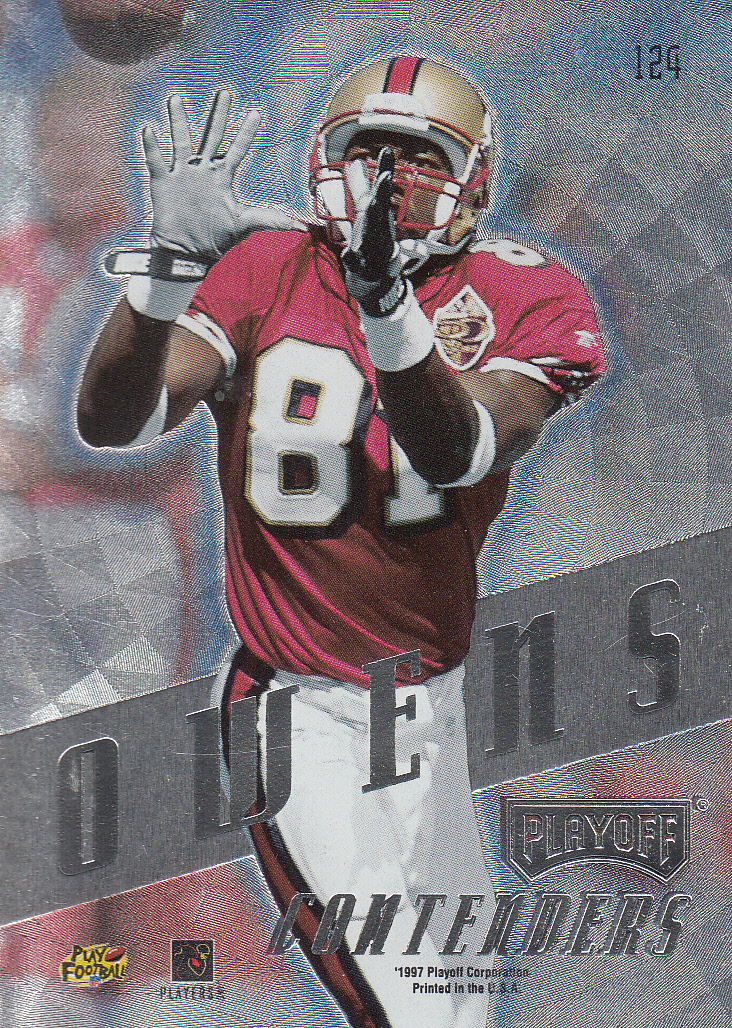 1997 Playoff Contenders #124 Terrell Owens back image