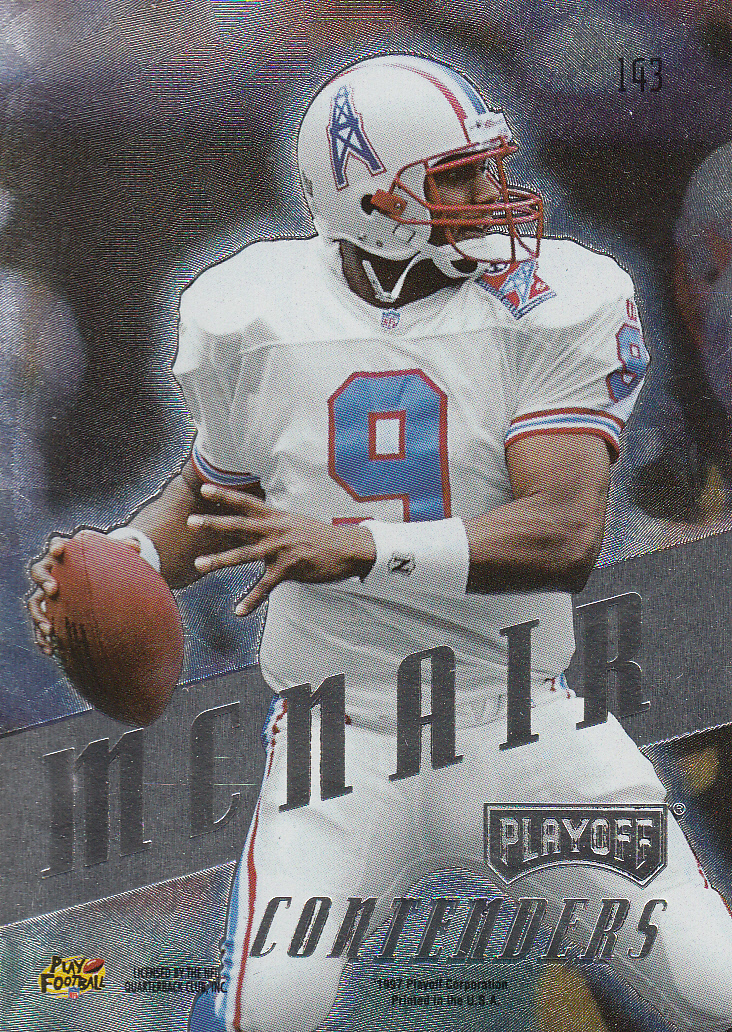 1997 Playoff Contenders #143 Steve McNair back image