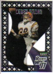 1997 Playoff Contenders Rookie Wave Pennants Black Felt #20 Corey Dillon