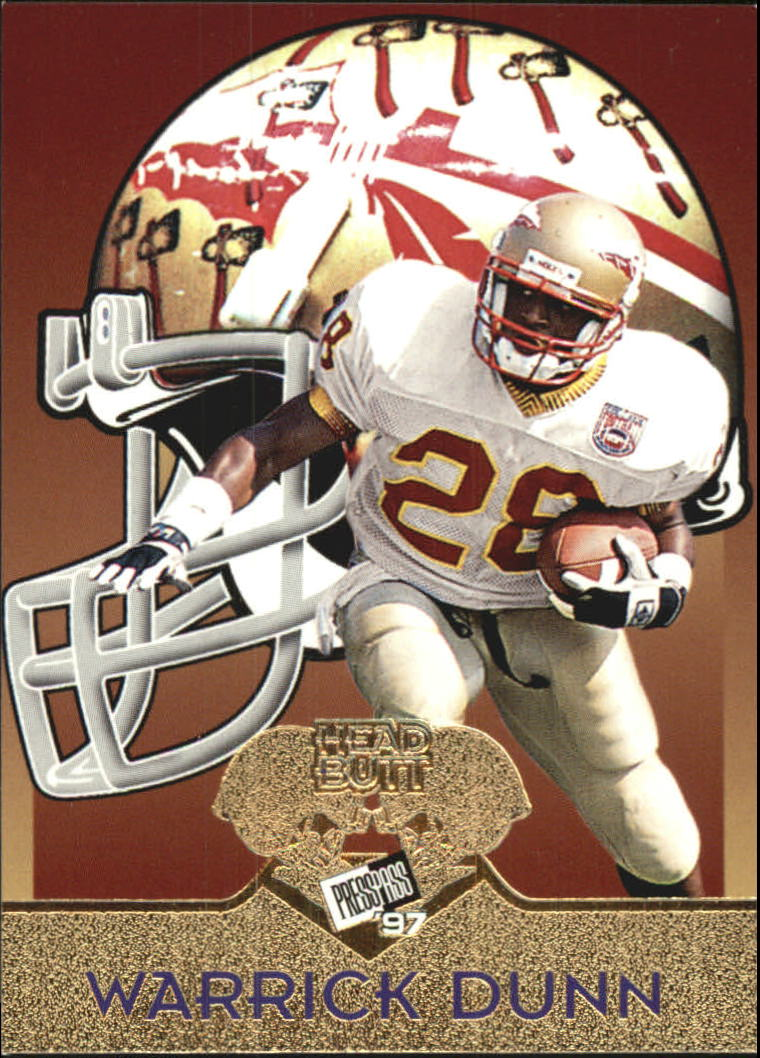 1997 Press Pass Head Butt #HB1 Warrick Dunn